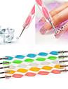 1pcs 2 voies 2-end parsemant Marbleizing outil de nail art stylo multi-couleur (13cm de longueur, couleur aleatoire)