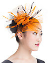 Lady Polyester Net Feather Flowers Fascinators Veil Wedding Hat