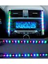 2x bil ledde blå / färgstarka ljudkontroll musik ljus bil avgift innerbelysning 12V glöd dekorativa atmosfär lampa