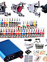 Tattoo Machine Complete Kit Set 4 Guns Machines 40PCS tattoo ink Tattoo kits