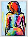 Peint a la main Portraits AbstraitsModern / Style europeen Un Panneau Toile Peinture a l\'huile Hang-peint For Decoration d\'interieur