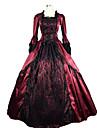 steampunk®marie antoinette gotisk koloniala brokad perioden klänning balklänning teater