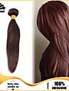 3pcs faisceaux de cheveux bresiliens tisse brun chocolat soyeux trame de cheveux 100% non transformes bresilien trame de cheveux humains