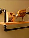 american retro industriell rörlednings- rack badrum rack badrum handdukshängare hylla trä dekorativa vägghylla-Z25
