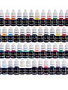 solong tatuering bläck 54 färger set 8 ml / flaska tatuering pigment kit