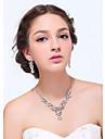 Set bijuterii Pentru femei Aniversare / Nuntă / Logodnă / Petrecere / Zilnic / Ocazie specială Set Bijuterii Argintiu / AliajȘtras /