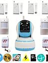 hd 720p ir wifi video IP-kamera säkerhet trådlösa hemmet larmsystem med dörrsensor pir detektor tf sd-kort strorage