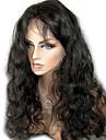 """non traite 10 """"-24"""" cheveux bresiliens vierges couleur naturelle vague de corps 130% de densite pleine perruque de dentelle / perruque"""