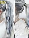 hot grossist limfria spets peruk mode jungfru håret rakt spets peruk silvergrå ombre front spets människohår peruk