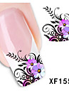 1 PCS 3D Water Transfer Printing Nail Stickers XF1554