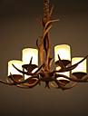 5W Hängande lampor ,  Vintage Rektangulär Särdrag for Flush Mount Lights Harts Living Room / Bedroom / Dining Room / Sovrum / Badrum