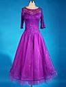Ballroom Dance Dresses Women\'s Performance Chinlon / Crepe Draped 1 Piece Purple