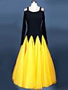 Ballroom Dance Dresses Women\'s Performance Chinlon / Crepe 1 Piece Fuchsia / Royal Blue / Yellow
