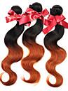 peruanska hår väva buntar kroppen våg två ton ombre T1B / 30 peruanska jungfru mänskliga hårförlängningar 1pcs 50g / st