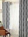 Deux Panneaux Le traitement de fenetre Rustique Moderne Neoclassique Mediterraneen Chambre a coucher Polyester MaterielRideaux occultants