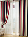 land curtains® två paneler rand blackout utskrift gardiner draperier