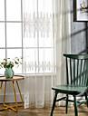(två paneler) modern elegant blad broderade enkeltrådig blanda ren gardin (ren ingår ej)