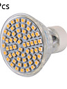 6W GU10 Spot LED MR16 60 SMD 3528 600 lm Blanc Chaud Blanc Froid Decorative AC 100-240 V 5 pieces