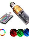 180 ° glans 3W RGB LED E27 fjärrstyrd flera färger ersättnings ljus glödlampan (ac86-265v)