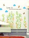 Floral Stickers muraux Stickers avion , PVC 50*5*5