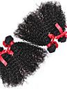 brasilianska lockigt hår väva 4 buntar virgin hårförlängningar människohår kinky lockigt 7a klass remy hår buntar 100g / st