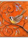 Peint a la main AnimalModern / Classique / Traditionnel / Style europeen Un Panneau Toile Peinture a l\'huile Hang-peint For Decoration