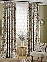 Två paneler Fönster Behandling Rustik Modern Nyklassisistisk Medelhavet Europeisk Vardagsrum Polyester MaterialMörkläggning Gardiner