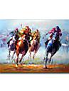 HANDMÅLAD MänniskorEuropeisk Stil En panel Kanvas Hang målad oljemålning For Hem-dekoration