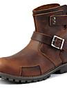Homme-Exterieure Decontracte Soiree & Evenement Work & Safety--Talon Plat-Confort-Bottes-Cuir