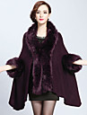 Wedding Faux Fur / Imitation Cashmere Capes 3/4-Length Sleeve Wedding  Wraps / Fur Coats / Hoods & Ponchos