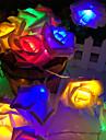 20 lampe rose batterie boite de chaine de la lampe