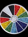 beadia 1box / 46g semințe de sticla margele 2mm culori runda mixte solide perle mici de sticlă (aprx.1000pcs)