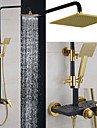 Shower Faucet Contemporary Rain Shower/Handshower Included Brass Chrome