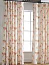 Två paneler Fönster Behandling Medelhavet Europeisk Rustik Modern Nyklassisistisk , Löv Sovrum Linne/Polyesterblandning Materialgardiner