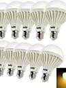 10 Stueck YouOKLight Dekorativ LED Kugelbirnen B E26/E27 5W 450 LM 3000 K 9 SMD 5630 Warmes Weiss AC 220-240 V