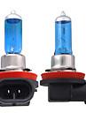 2 x h11 phare blanc lampe ampoule tete legere 5000k 55w