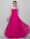 Floor-length Chiffon Bridesmaid Dress A-line Sweetheart with Criss Cross