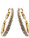 Cercei Rotunzi  La modă bijuterii de lux European Cristal Argilă Placat Auriu imitație de diamant Circle Shape Geometric ShapeArgintiu