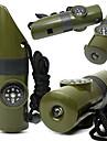 sifflet / Miroir de signalisation / Kit de survie / Compas/boussole / Thermometre / Magnifier Camping Sifflet Plastique Vert