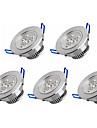 6W Lampada de Embutir 3 LED de Alta Potencia 550 lm Branco Quente / Branco Frio AC 100-240 V 5 pcs