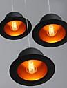 Contemporain / Traditionnel/Classique / Rustique / Vintage / Retro / Lanterne LED Metal Lampe suspendueSalle de sejour / Chambre a