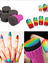 Nail Art Sponge Stamp Stamping Polish Template Transfer DIY Design Kit Deco (10PCS)
