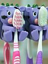gullig tecknad sugkopp tandborsthållare krokar badrum miljövänlig hushåll