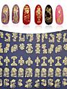 Bloem - Vinger / Teen - 3D Nagelstickers - PVC - 1sheet - stuks 21.5cm*17.5cm each piece - ( cm )