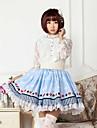 blått spelkort lolita kjol härlig cosplay