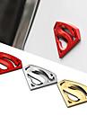 8x5.4cm grande de metal 3d superman 3m de chrome logo de Superman auto insigne metallique voiture sticker