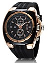 V6® Men's Watch Japanese Quartz Military Gold Case Rubber Band  Cool Watch Unique Watch