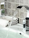 Contemporary Bathroom Sink Waterfall  Automatic  Faucet with  Sensor