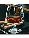 HANDMÅLAD StillebenKlassisk En panel Kanvas Hang målad oljemålning For Hem-dekoration
