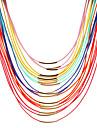 Dame Coliere Choker Coliere Layered Κολιέ με Πέρλες Perle Reșină Aliaj Imitație de Perle La modă Culoare ecran Bijuterii Zilnic Casual1